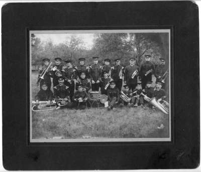 34th Regiment Band at Niagara-on-the-Lake Camp, c. June 1908