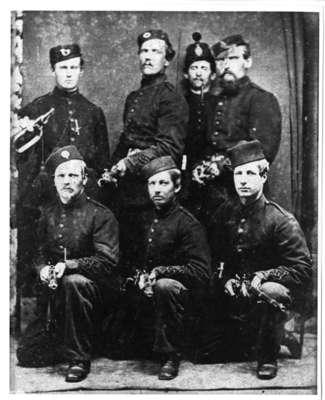 Soldiers at Fenian Raid, 1866