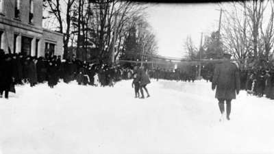 Soldiers of the 116th Battalion Marching West Along Dundas Street, 1916