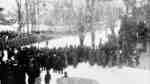 Crowd at Flag Raising Ceremony at Armouries, 1916