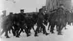116th Battalion Soldiers Marching on Dundas Street, 1916