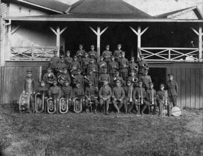 182nd Battalion Band at Heydenshore Park, August 1916