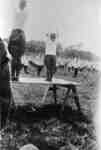 116th Battalion Soldiers performing Calisthenics Drill at Military Review, 1916