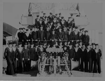 Commissioning Crew for H.M.C.S. Whitby, June 1944