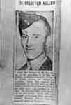 Photograph of newspaper clipping about Robert William Rea, c.1943