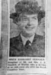 Photograph of Newspaper Clipping about Wren Margaret Stanlick.