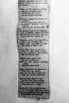 Photo of a poem printed in a newspaper