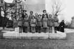 Brownies at Cenotaph on Remembrance Day, November 1939