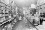 Interior of A.T. Lawler's Grocery Store, 1907.