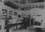Interior of Allin's Drug Store, c.1904.