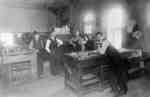 Composing Room at the office of the Gazette and Chronicle, c.1913