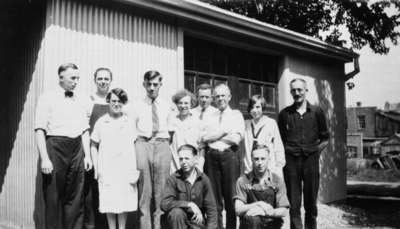 Staff of the Gazette and Chronicle, c.1929