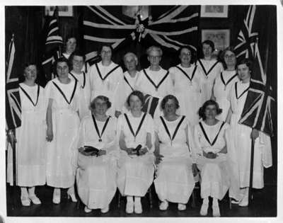 Officers of Daughters of England Lodge, 1935