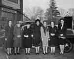 Victorian Order of Nurses with their first car, October 1947