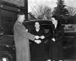 Presentation of keys for car to the Victorian Order of Nurses, October 1947