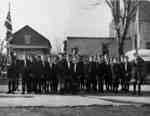 Cub Pack on Byron Street Remembrance Day, November 11, 1948