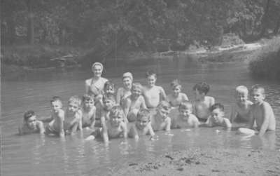 Children at IODE Day Camp at Camp Hood, c.1946-1947