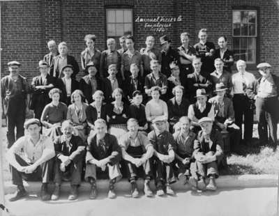 Whitby Malleable Iron and Brass Company Employees (also known as the Buckle Factory), 1936