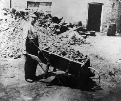 Wheeling Coal at King Brothers' Tannery, c.1925