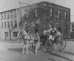 Horse and Carriage in front of King Brothers' Tannery, 1934