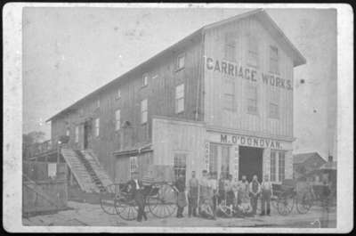 Michael O'Donovan's Carriage Works, c.1875