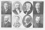 Composite Portrait Souvenir of George W. Dryden, J.E. Farewell, John F. Paxton, Donald McKay, L.T. Barclay, His Honor Judge McCrimmon, G.Y. Smith, His Honor Judge McIntyre