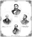Portrait Prints of Z. Burnham, Geo. H.F. Dartnell, W.H. Higgins and J. Ham Perry, 1877