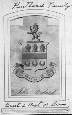 Pentland Family Coat of Arms, c. 1850