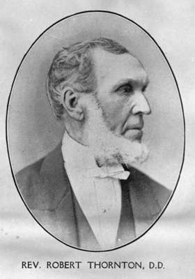 Reverend Robert Hill Thornton, c. 1870.