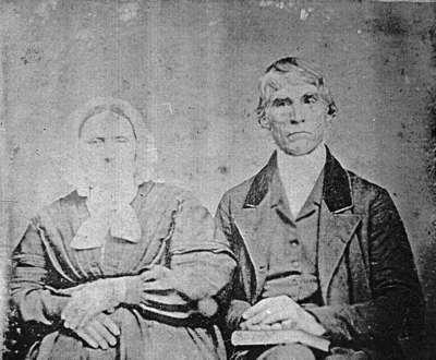 Reverend Israel Marsh and Mrs. Eliza Marsh, c.1854.