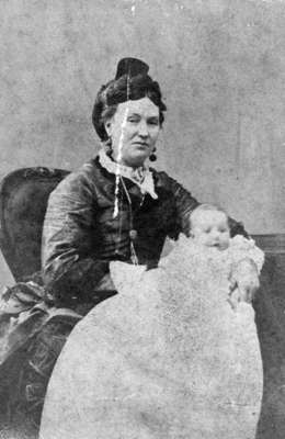 Mrs. William Waterhouse with her first son George Waterhouse, c. 1865