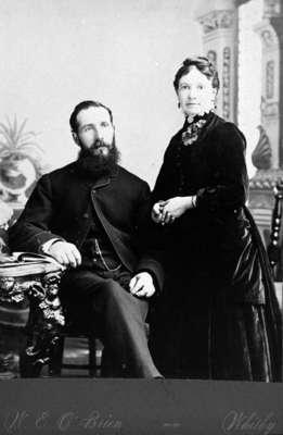 Mr. William Hislop and his wife (Mary E. Oke), c.1885
