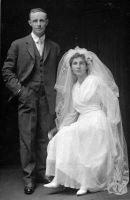 William and Alice Guthrie Wedding Photograph, 1917