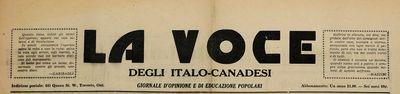 La Voce degli Italo-Canadesi
