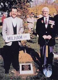 Ajax Veterans Street Dedication: Milham Drive