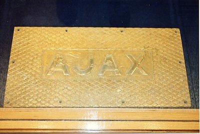 HMS Ajax- metal plate
