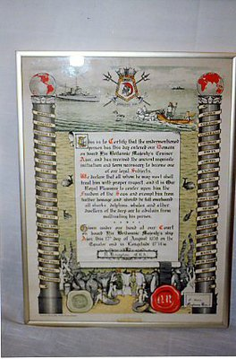 Freedom of the Sea document - HMS Ajax