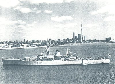 HMS Ajax, 1963 - anchored at Toronto, ON