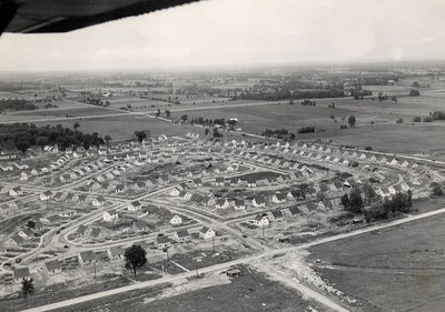 Housing - new houses in Ajax after WWII