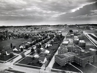 King's Court apartments, 1966 - Ajax- Aerial Photograph
