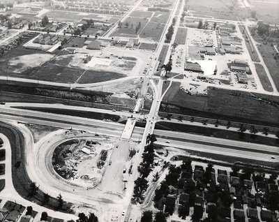 Harwood Avenue & Highway 401, c. 1961 - Ajax - Aerial Photograph