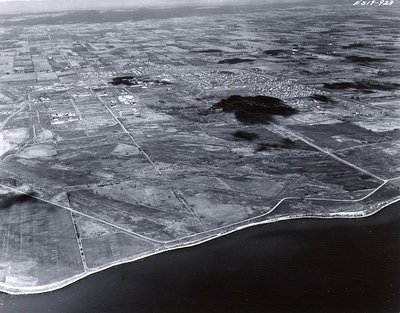 Lake Ontario - Shoreline, November 1963 - Ajax - Aerial Photo