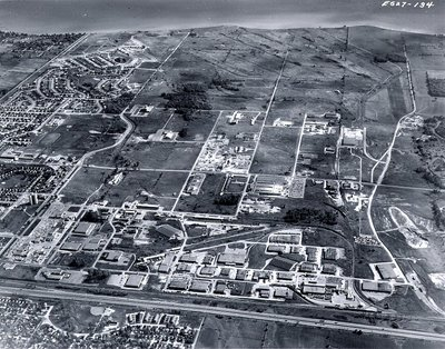 Lake Ontario - Highway 401, September 1968 - Ajax - Aerial Photo