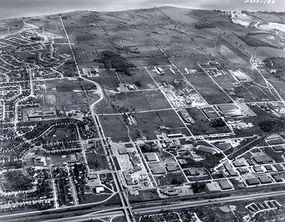 Lake Ontario - Highway 401, September 1968 - Ajax - Aerial Photo