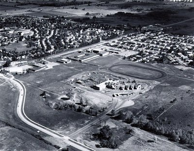 Harwood Secondary School, c. 1970 - Ajax- Aerial Photograph