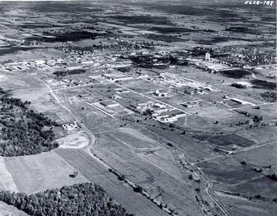 MacDonald Cartier Freeway - Highway 401, c. 1970 - Ajax - Aerial Photo