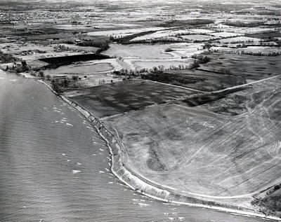 Lake Ontario, 1970- Ajax - Aerial Photo