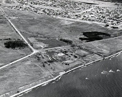 Lake Ontario - Water Plant, 1970 - Ajax - Aerial Photo