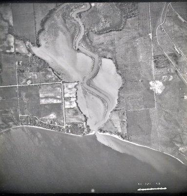 Lake Ontario - Duffins Creek, May 19, 1948 - Ajax - Aerial Photo