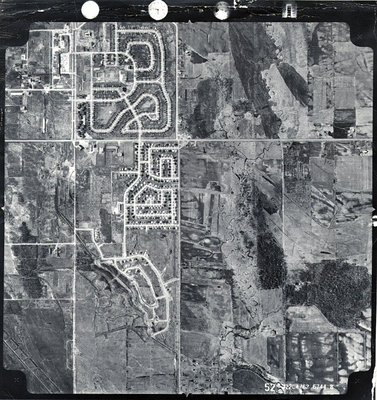 Harwood Avenue - Shopping Plaza - Ajax- Aerial Photograph